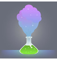 chemical reaction vector image