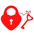 key to heart vector image