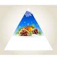 Triangular winter background vector image
