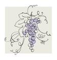 hand drawn of blue grape pastel color vector image vector image