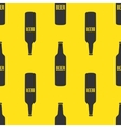 beer bottles seamless pattern in modern vector image