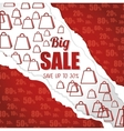 big sale save up discount torn paper bags vector image