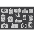 Camera icons or symbol on color background vector image