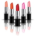 colorful lipstick perspactive vector image