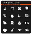 halloween simply icons vector image