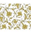 Luxury Golden Seamless Wallpaper Pattern vector image