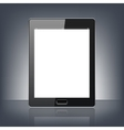 Modern digital tablet PC isolated on the black vector image