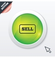 Sell sign icon Contributor button vector image