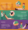 waxing threading and laser hair removal banners vector image