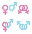 Male and female symbols combination vector image