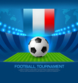 football tournament road to france 2016 vector image