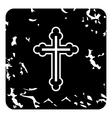 Cross icon grunge style vector image
