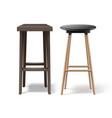 two bar stools vector image vector image