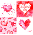 greeting card with hearts vector image vector image