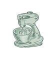 Kitchen Mixer Vintage Etching vector image
