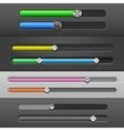 slider bars vector image vector image