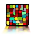 The stained glass in a black frame vector image