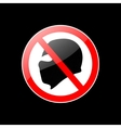 red and black stop terror sign isolated vector image