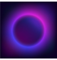 round Border with Light Effects Planet in space vector image