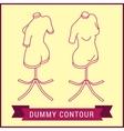 Contour dummy isometric Manikin figure vector image