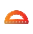 Ruler sign  Orange applique isolated vector image
