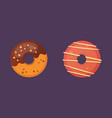 catoon donut with glaze vector image