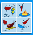 Colorful doodle sketches of Spanish wine vector image