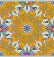 elegance seamless pattern with ethnic flowers on vector image