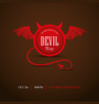 halloween party invitation with devil frame vector image