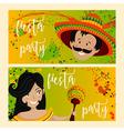 invitation for fiesta festival vector image