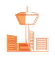 isolated control tower vector image