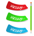 Message Set vector image