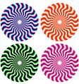 optical ornamental wheels vector image