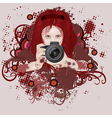 Photographer girl vector image