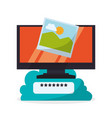 cloud computing design media icon isolated vector image