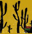 cactus background cinco de mayo holiday card vector image