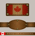 label of a flag of canada vector image vector image