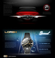 digital dark silver classic man watch vector image