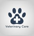 veterinary care logo vector image