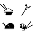 food icons isolated on white background vector image vector image