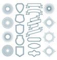 Vintage sunburst frames ribbon banners and labels vector image