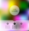 blurred color background vector image vector image