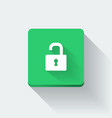 Opened lock icon vector image vector image