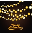 Christmas lights design vector image