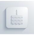 modern cake light icon vector image