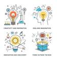 Idea and Imagination vector image