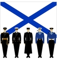 Soldiers and officers of the Russian fleet-2 vector image