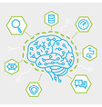 Artificial Intelligence Communication Functions vector image vector image