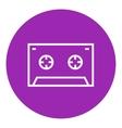 Cassette tape line icon vector image