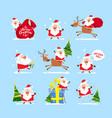 collection of christmas santa claus christmas se vector image
